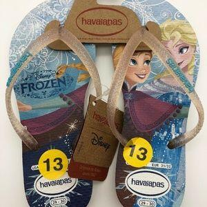 Havaianas Frozen Disney Flip Flops - Size 13C/1Y
